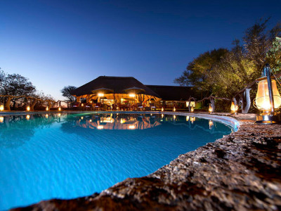 Thaba Khaya Lodge at Night
